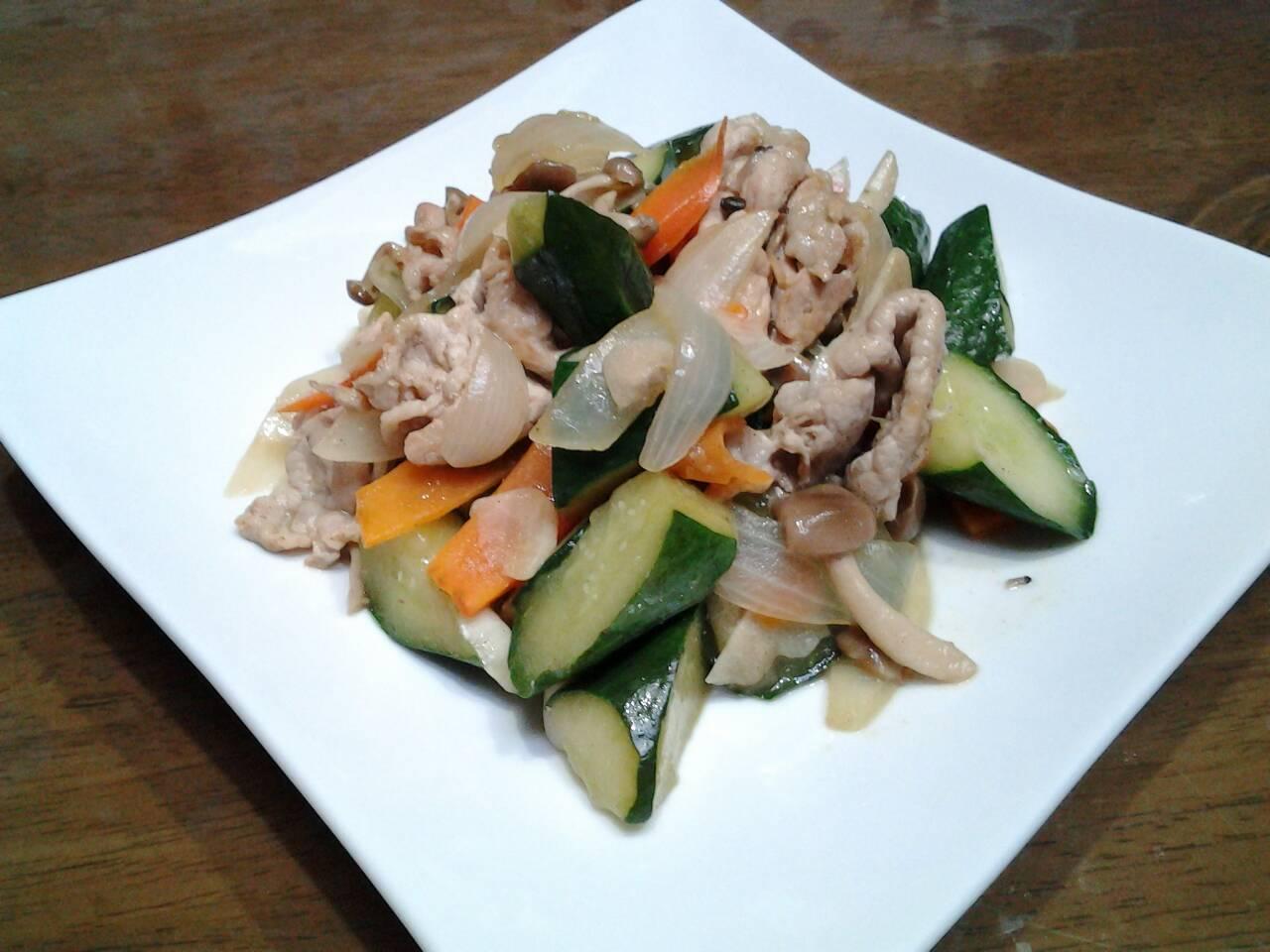 きゅうり野菜炒め